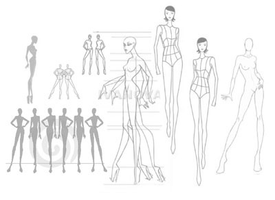 Examples Of Model Templates For Fashion Design Found Just About Everywhere