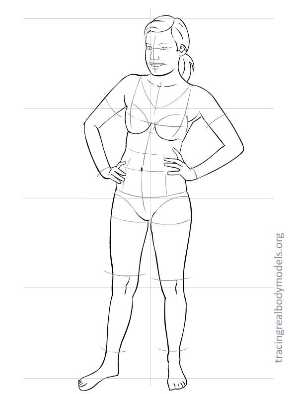 how to draw a full body silhouette