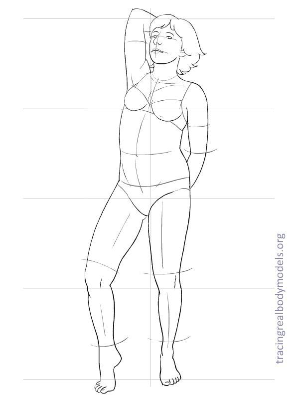 bikini body 20 new full size templates tracing real body models. Black Bedroom Furniture Sets. Home Design Ideas