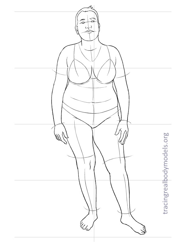 6 new real body models, 33 fashion figure templates | Tracing Real ...