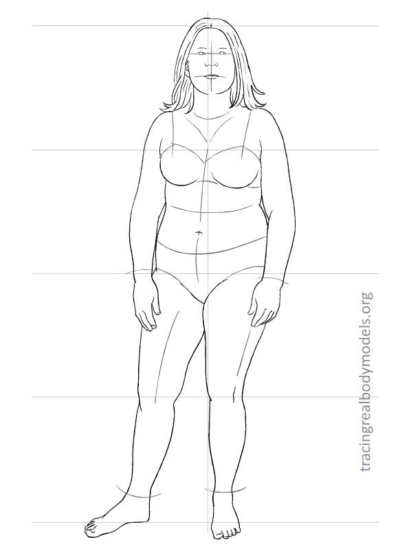 female body template